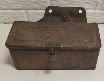 Vintage Antique Tractor Tool Box With Mounting Bracket And Latch For Locking