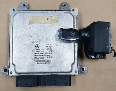 MERCEDES E250 CDI OM651 ENGINE ECU KIT IGNITION LOCK KEY A6519003701 A2189054701
