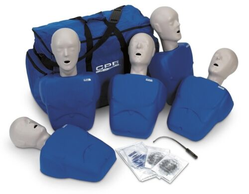 CPR Prompt Adult/Child Manikin 5 Pack CPR AED Training Manikins - Blue
