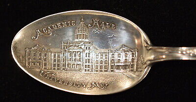 c1900 Sterling Souvenir Spoon Academic Hall University of Missouri