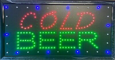 1019 Led Cold Beer Restaurant Cafe Sign Onoff Switch Bright Open Light Neon