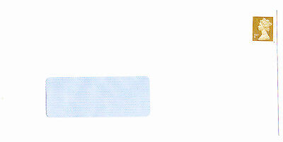 100 1st class unfranked assorted stamps on new white DL envelopes with windows for sale  Shipping to Ireland