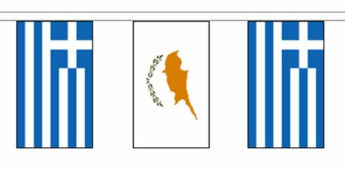 Greece Friendship Flag Polyester Bunting - Premium Quality