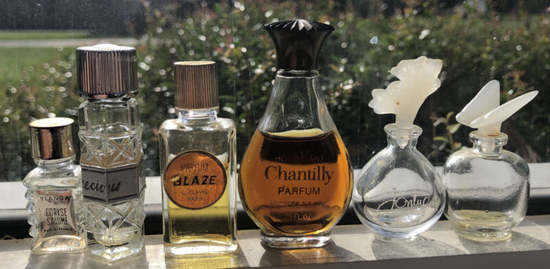 Vintage Perfume Bottle Lot (6) Paris New York, NY And More