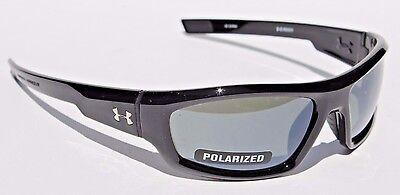UNDER ARMOUR Power POLARIZED Sunglasses Shiny Black/Gray NEW Sport/Cycle (Polarized Power Sunglasses)