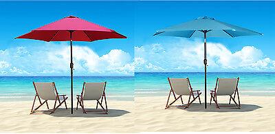 9ft Outdoor Aluminum Beach Umbrella Shade Cover ...