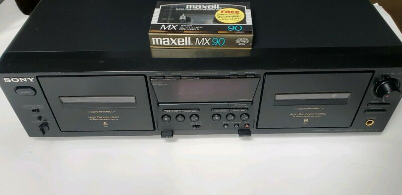 Sony TC-WE475 Stereo Dual Cassette Deck with High-Speed Dubbing WORKS PERFECTLY