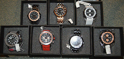 Men's Red Line Driver Water Resistant Chronograph Stainless Steel Designer - Driver Chronograph Watch