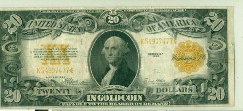 1922 $20 gold FR 1187 #7477
