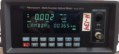 Newport Dual Channel Optical Power Meter Model 2835-c