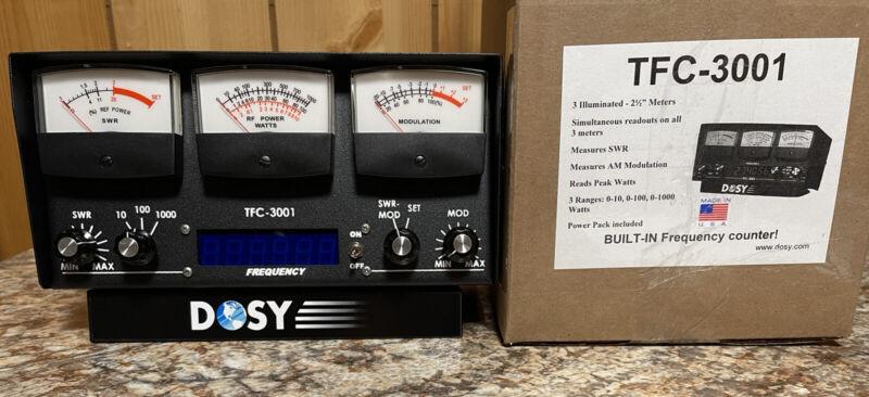 Dosy TFC-3001 1,000 Watt SWR/Mod/Peak/AM Watt Meter with Frequency Counter