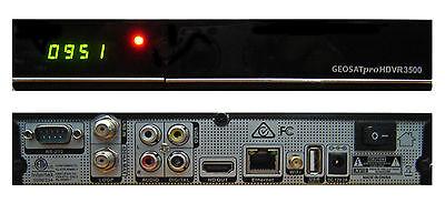 GEOSATpro HDVR3500 DVB-S2 MPEG4 Satellite Receiver PVR IPTV XBMC WiFi LAN CC