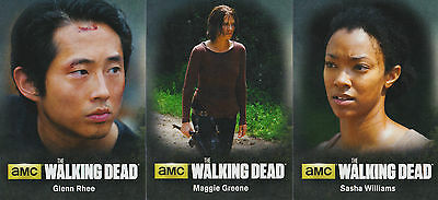 The Walking Dead Season 4 Part 2 - Characters Insert Chase Trading Card Set