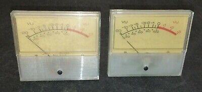 3 12 Analog Vu Meters - Pair - Vintage