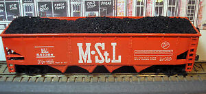 MINNEAPOLIS-ST-LOUIS-42-FT-4-BAY-COAL-HOPPER-WITH-LOAD-MStL-541088-HO-SCALE