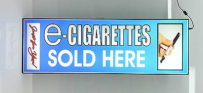 Business Led Lighted Box Sign Electronic E - Cigarettes Sold Here Blue