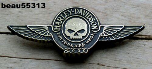2000 HARLEY DAVIDSON DAYTONA WILLIE G HOG RALLY VEST HAT JACKET PIN