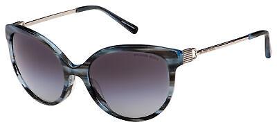 Michael Kors Abi Sunglasses MK 2052F 329011 57 Blue Horn | Grey Gradient Lens