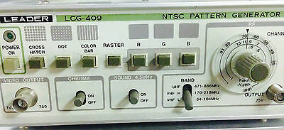 Leader Electronics Model Lcg-409 Ntsc Pattern Generator Lcg409