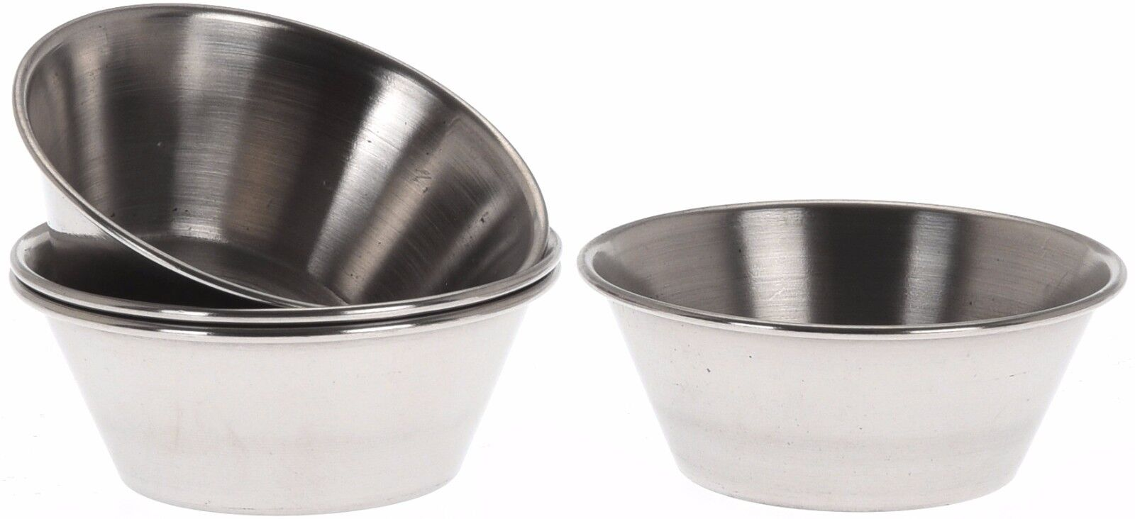 Stainless Steel Ketchup Serving Dishes Mustard Sauce Pots Dipping Sauce Buffet