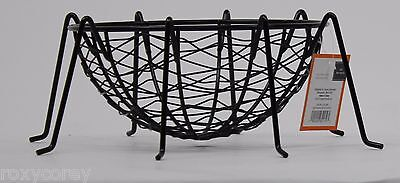Halloween Metal Black Spider Web Candy Bowl 8 W x 4 H x 12 D NWT