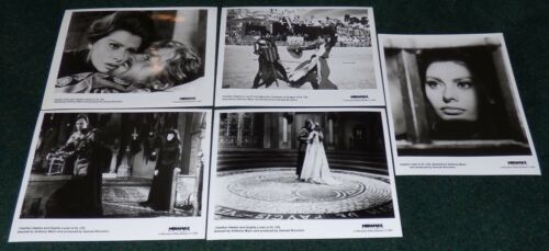 EL CID R 1993 ORIGINAL PRESS PHOTO STILL SET OF 5 SOPHIA LOREN CHARLTON HESTON