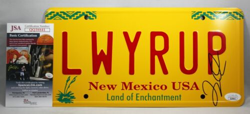 LAVELL CRAWFORD SIGNED BREAKING BAD LICENSE PLATE BETTER CALL SAUL RARE +JSA COA