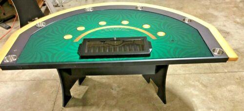 Professional Size Blackjack Table (REFURBISHED ) RP-Green Layout