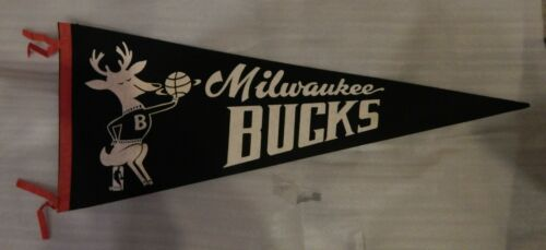 Milwaukee Bucks Pennant or Banner With Bango Circa 1970