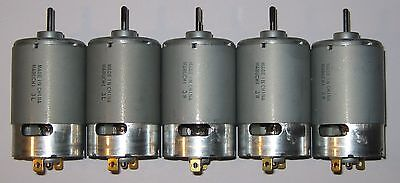 5 X Mabuchi 555 12v Dc Motor - Printer Portable Drill Robotics Hobby Motors