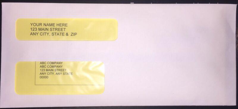 "500 Double-Window ENVELOPES #10 QuickBooks invoice/statements Gummed 9x4-1/8"""