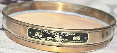 W.s.tyler Usa Standard Brass Frame Ss Mesh 8  140 106mm Test Sieve Ships Free