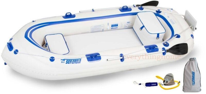 Sea Eagle SE9 Fisherman's Dream Pkg Inflatable Motor Mount Boat -Make Offer!