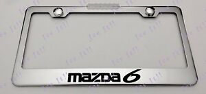 Mazda 6 Stainless Steel License Plate Frame Rust Free W/ Bolt Caps