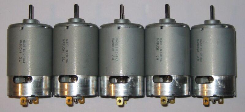 5 X Mabuchi 555 12 VDC Deer Feeder Motor - Large 4500 RPM Hobby DC Motors