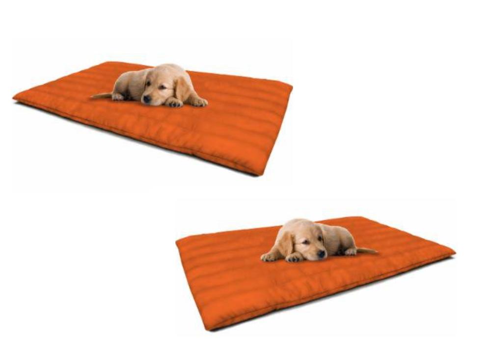 Cuscino Imbottito Con Zip Per Cani Imbottitura Estraibile 60 x 60 cm ARANCIONE
