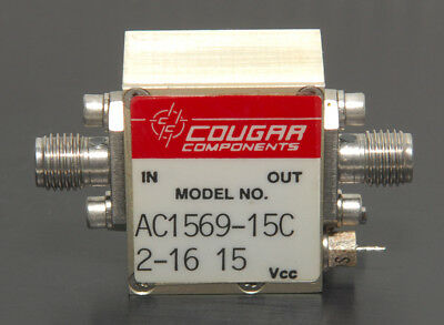 Teledyne Cougar Rf Power Amplifier Ac1569-15c 10-1500 Mhz 21 Db 50 Ohm Smaf-f