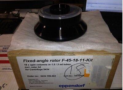 New Eppendorf Centrifuge Fa-45-18-11 Kit Fixed Angle Rotor Spin Column 18 5424r