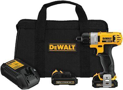 Dewalt Dcf610s2 12v Max 14 6.35 Mm Screwdriver Kit