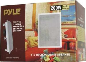 New - PYLE PROFESSIONAL IN WALL HOME THEATRE SPEAKER SYSTEMS - FOR A PROFESSIONAL BUILT-IN SURROUND SOUND AUDIO EFFECT !