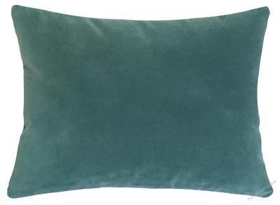 Caribbean Green Velvet Suede Decorative Throw Pillow Cover 12x16