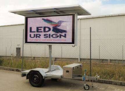 FULL COLOUR Solar Advertising Trailer - GREAT INVESTMENT! Brisbane City Brisbane North West Preview