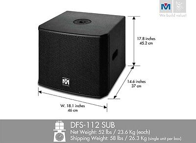 Better Music Builder DFS112 SUB Bass Power Subwoofer 1200