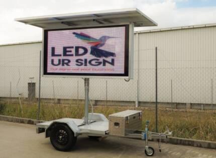 VMS Sign Board / LED Advertising Trailer - solar or 240v Rockhampton 4700 Rockhampton City Preview