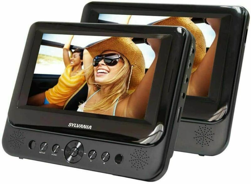 """Sylvania SDVD8716 - Dual-Screen Portable 7"""" DVD Player"""