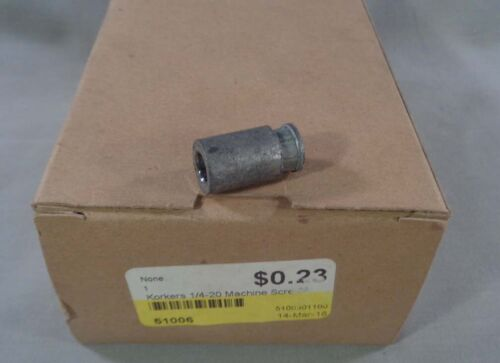 """Box of 100 KORKERS 1/4""""-20 Expansion Machine Screw Lead Anchors"""