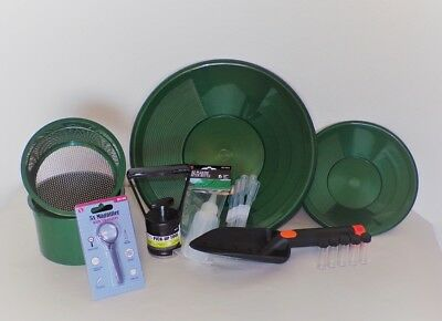SE Green Mini Gold Classifier Screen & Gold Pan Panning Kit SALE PRICE!!!