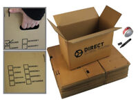 10 Strong Large Cardboard Storage Packing Moving House Boxes BRAND NEW Still in their package