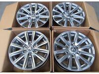 """Genuine Mitsubishi L200/Pajero 17"""" Alloy Wheels x4"""