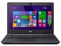 "Acer ES1-411 14"" Laptop Notebook Intel 2.1ghz, 2gb Memory, 500gb Hard Drive"